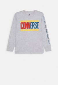Converse - COLLEGIATE MIX UP TEE - Langarmshirt - lunar rock heather - 0