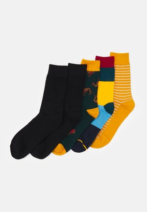 JACSTRIP LION SOCK 5 PACK - Strumpor - chili pepper/golden orange