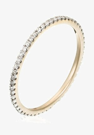 9K YELLOW GOLD RING CERTIFIED 54 DIAMONDS HSI 0.16 CT - Ring - yellow