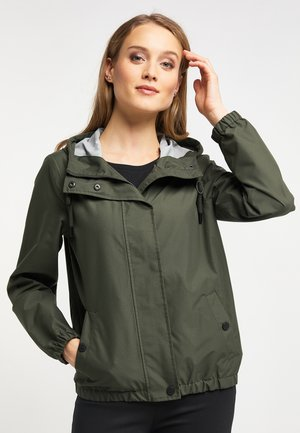 Waterproof jacket - dark olive