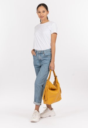 STACY - Shopping bag - yellow