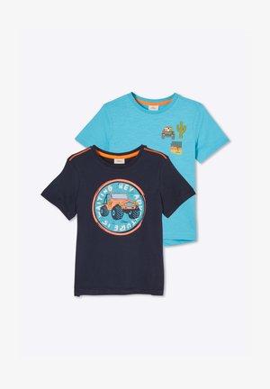 2 pack - Print T-shirt - dark blue/turquoise