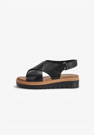 Sandalen met plateauzool - mntrl black nbl