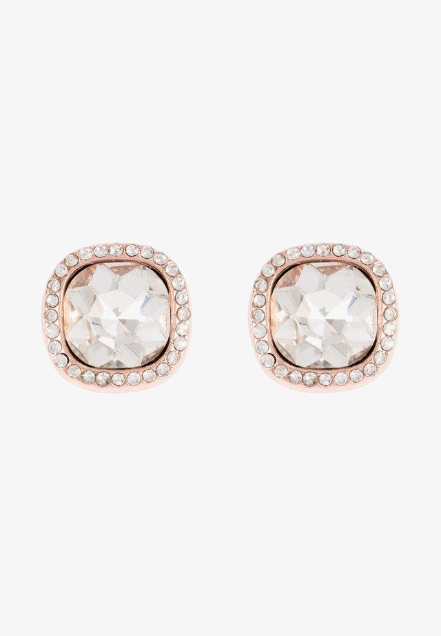 Boucles d'oreilles - weiß/roségoldfarben