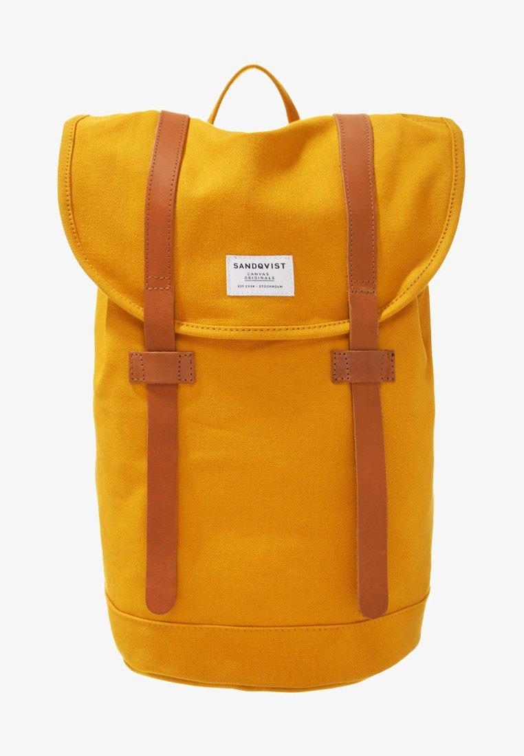 Sandqvist - STIG - Rucksack - yellow/cognac brown