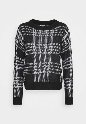 NMSQUARE ONECK - Pullover - black/bright white