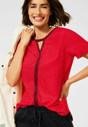 IM MATERIALMIX - Blouse - rot
