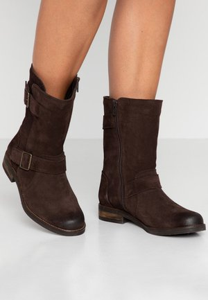 DEMI FLOW - Boots - Dark brown