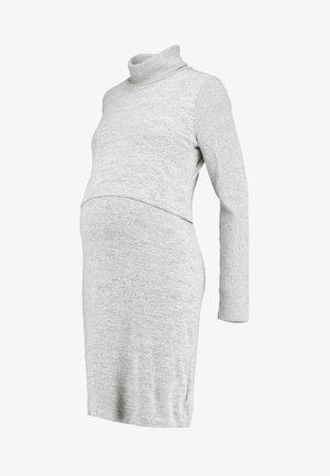 COZY NURSING DRESS - Jumper dress - light grey