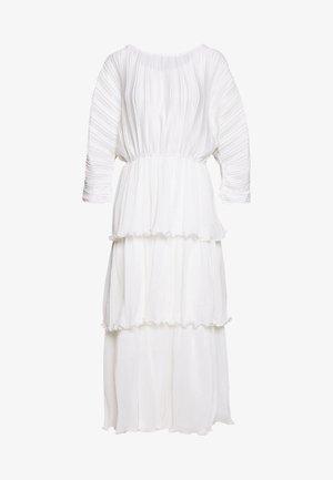 OPEN BACK PLEATED - Maxi šaty - white