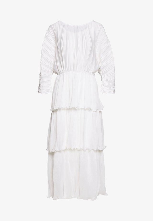 OPEN BACK PLEATED - Długa sukienka - white
