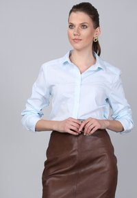 Basics and More - Button-down blouse - turquoise - 3