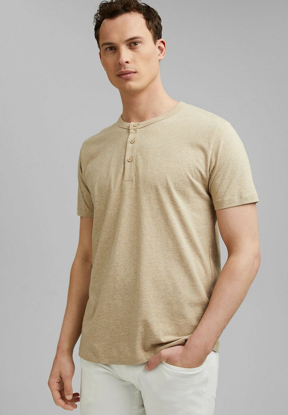 Homme HENLEY  - T-shirt basique