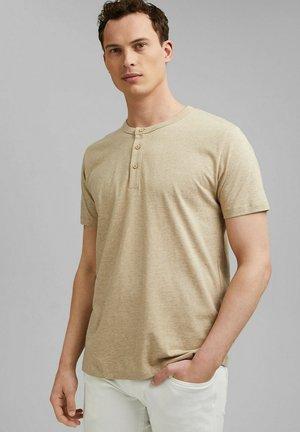HENLEY  - Basic T-shirt - light beige