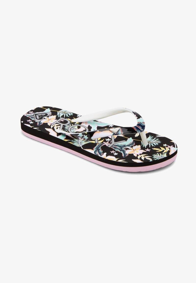 Roxy - PEBBLES  - T-bar sandals - anthracite