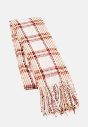 Scarf - off-white/brown/bordeaux