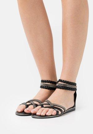 T-bar sandals - medusa nero