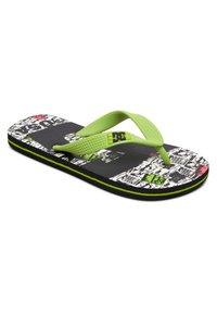 DC Shoes - T-bar sandals - black/lime - 0