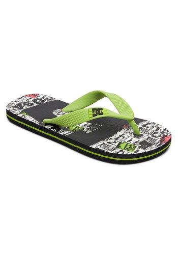 T-bar sandals - black/lime