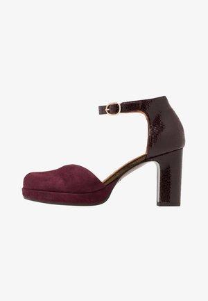 JO HAHO - High heels - grape/palais grape/lame bronce