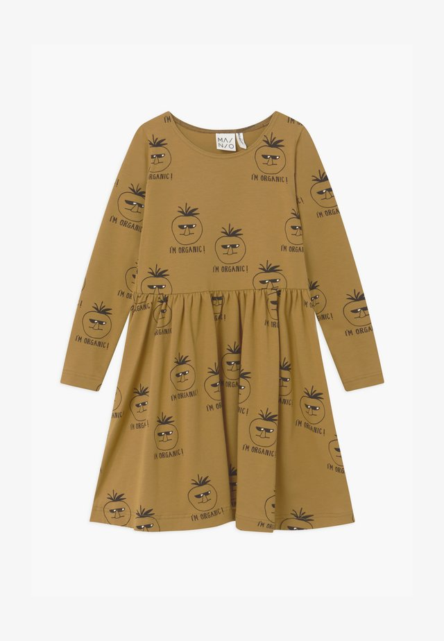 Jersey dress - dull gold