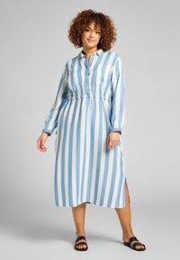 Lee Plus - LONG WORKER  - Shirt dress - dawn blue - 1