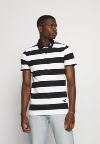Hollister Co. - Polo shirt - black/white - 0