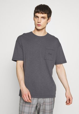 JORDUSTY TEE CREW NECK - Basic T-shirt - asphalt