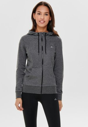 ONPELINA ZIP HOOD - Zip-up hoodie - dark grey melange