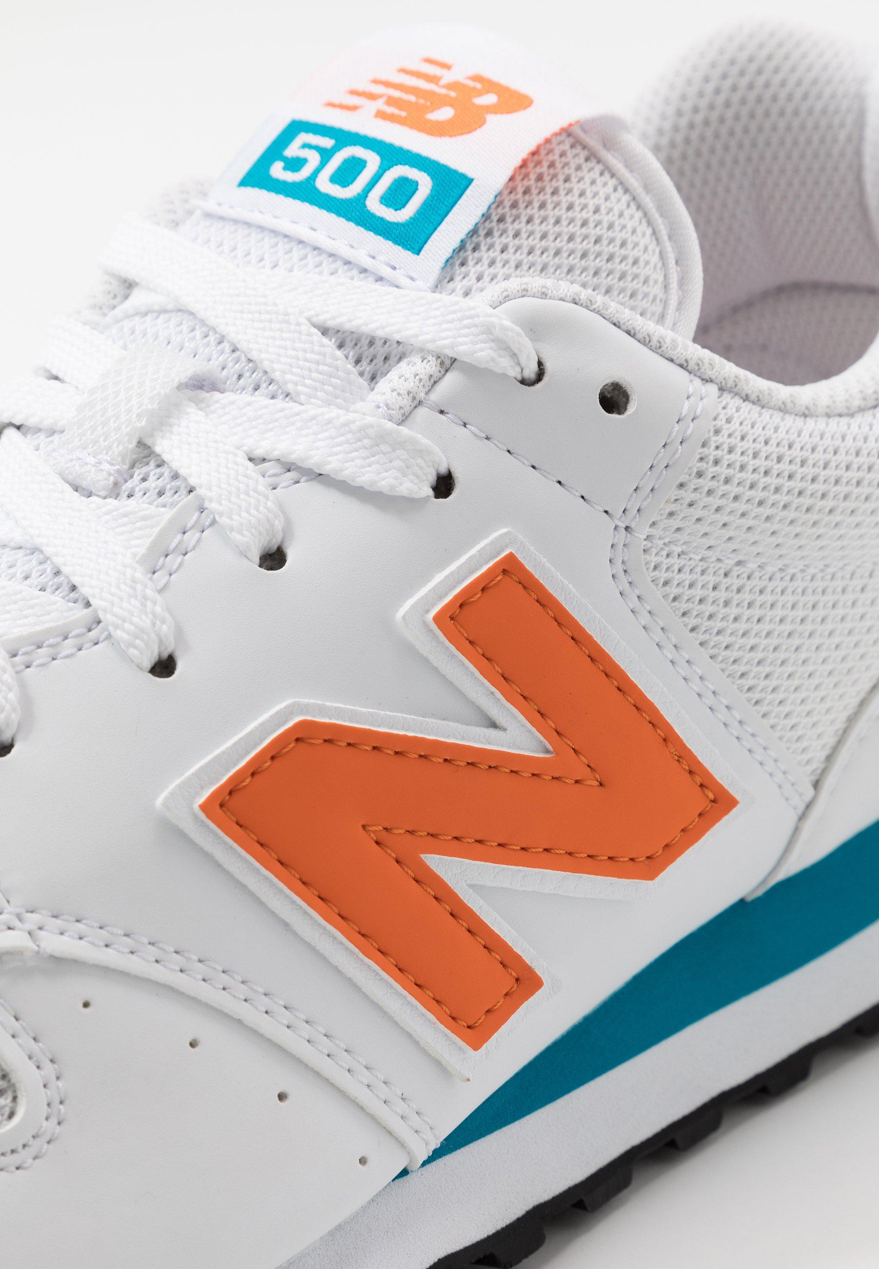 New Balance 500 - Baskets basses - white/orange/blue/blanc ...