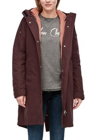 Q/S designed by - Winter coat - dark ruby - 6