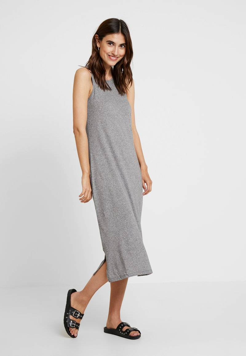 GAP - KEYHOLE MIDI - Maxi dress - light grey