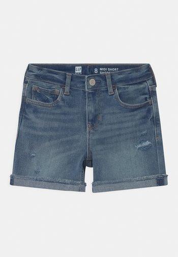 GIRL MIDI - Denim shorts - blue denim