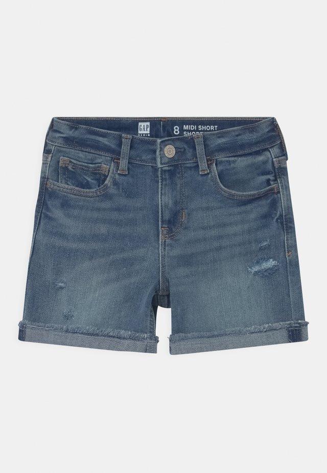 GIRL MIDI - Shorts di jeans - blue denim