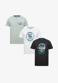 Threadbare - T-SHIRT GRAPHIC 3 PACK B - T-Shirt print - multi - 3