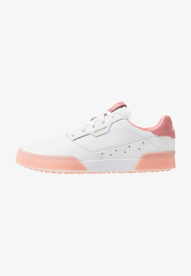 ADICROSS RETRO - Golfkengät - footwear white/glory pink