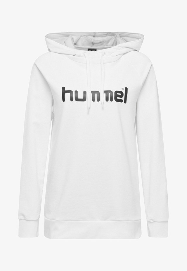 GO LOGO HOODIE WOMAN - Jersey con capucha - white