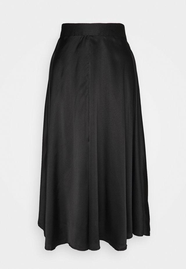 VMCHRISTAS CALF SKIRT  - Jupe trapèze - black