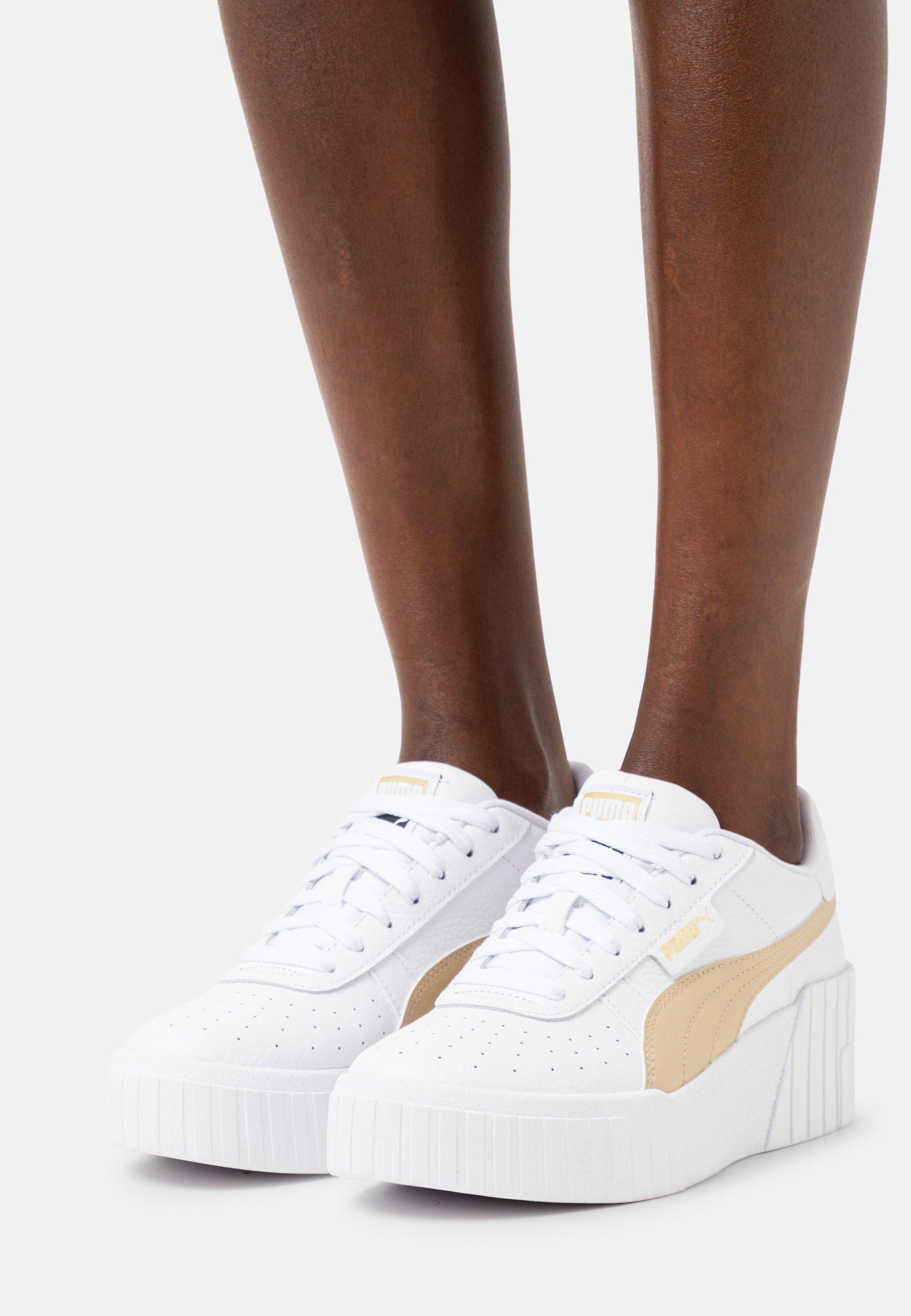 Puma CALI WEDGE - Baskets basses - white/black/blanc - ZALANDO.FR