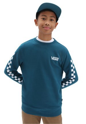 BY EXPOSITION CHECK CREW BOYS - Sweatshirt - blue coral