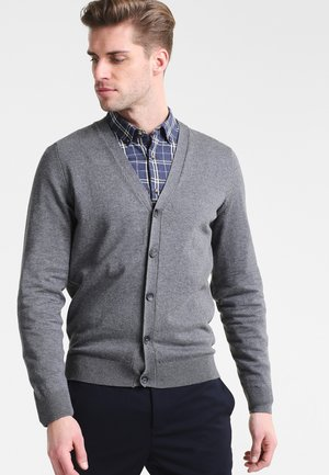 Strickjacke - dark grey melange