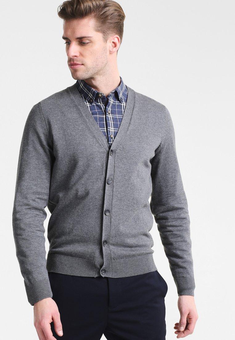 Pier One - Vest - dark grey melange