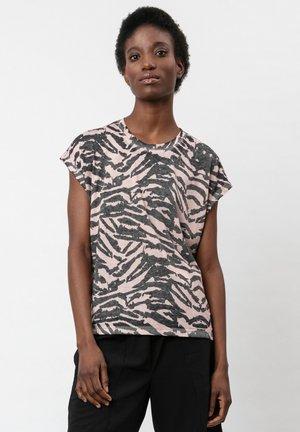 Print T-shirt - pink dogwood