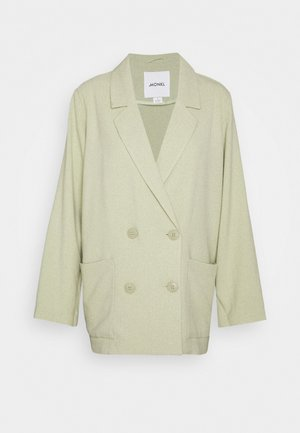TWIGGY - Short coat - green dusty light/salt and pepper