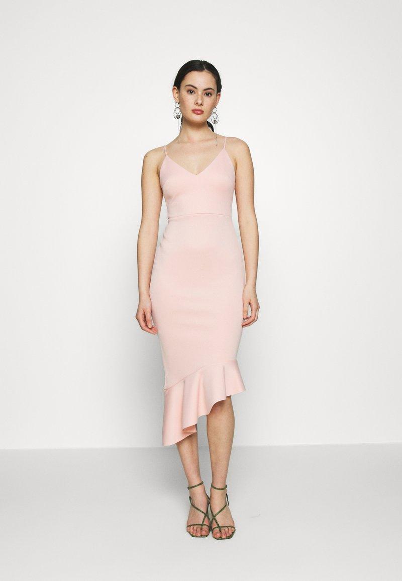 Miss Selfridge - PEPLUM MIDI DRESS - Cocktail dress / Party dress - blush