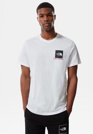 Print T-shirt - tnf white