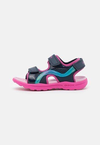 VANIETT GIRL - Walking sandals - navy/fuchsia