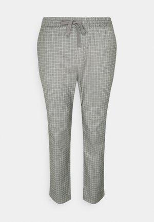 ONSLINUS PANT CHECK LONG  - Trousers - light grey melange