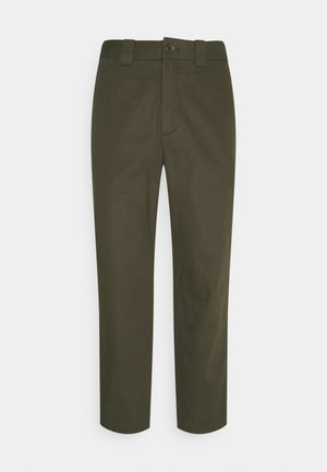 CROPPED RELAXED - Trousers - khaki green