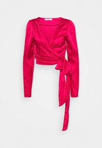 Glamorous - DRAPE WRAP WITH LONG SLEEVES PLUNGING NECKLINE - Blouse - red - 0